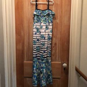 Justice Long Dress with Flowers
